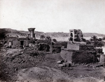 Maxime du Camp - village et temple de l'île de Biggeh, Karnak, Egypte, 11 avril 1850