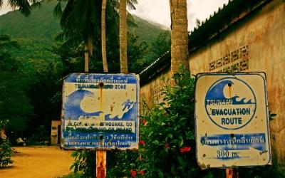 Haad Chaloklum, Tsunami hazard zone