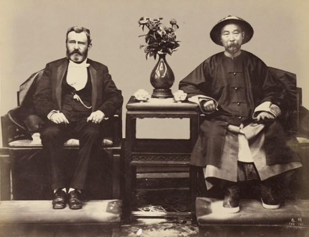 Le général Grant et Li Hung Chang (Li Hongzhang), Vice-Roi du Zhili - Tientsin - 1879 - Liang Shitai
