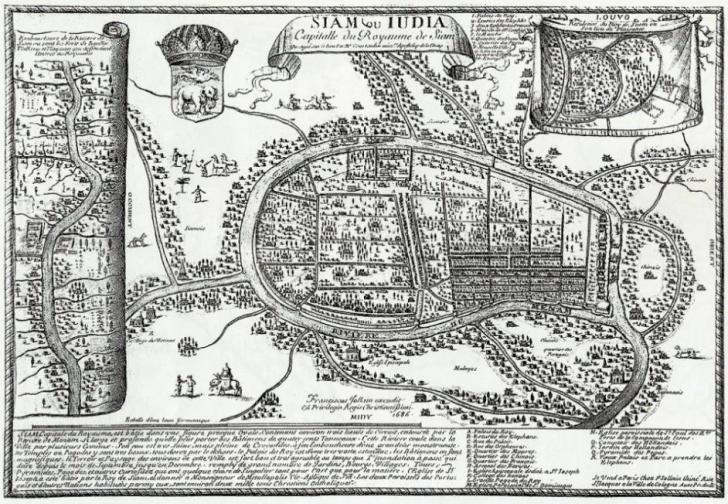 Ayutthaya - Jean de Courtaulin de Maguellon 1686