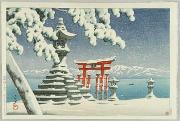 Neige à Miyajima