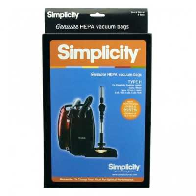 """Simplicity """"H"""" Canister HEPA Bags"""