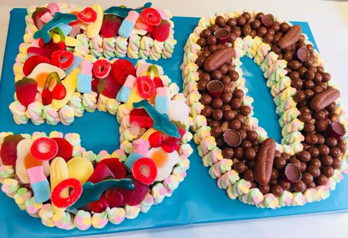 Double Number Or Letter Sweet Cake Cakes Made Of Sweets Call