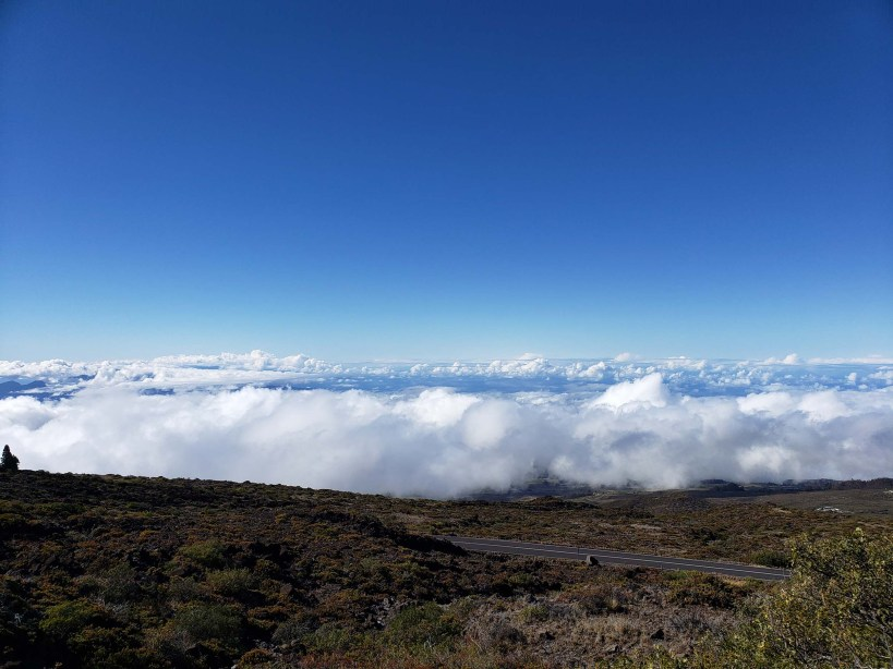 Above the clouds at Haleakalā National Park in Maui, Hawaii