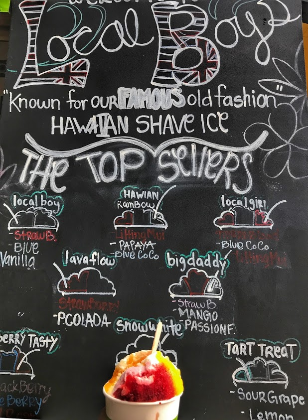 Local Boys Shave Ice in Maui, Hawaii