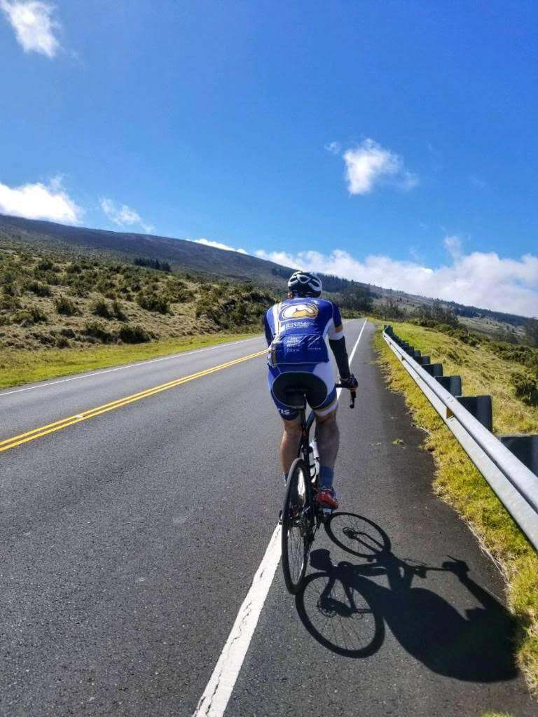 Cycling in Haleakalā National Park in Maui, Hawaii