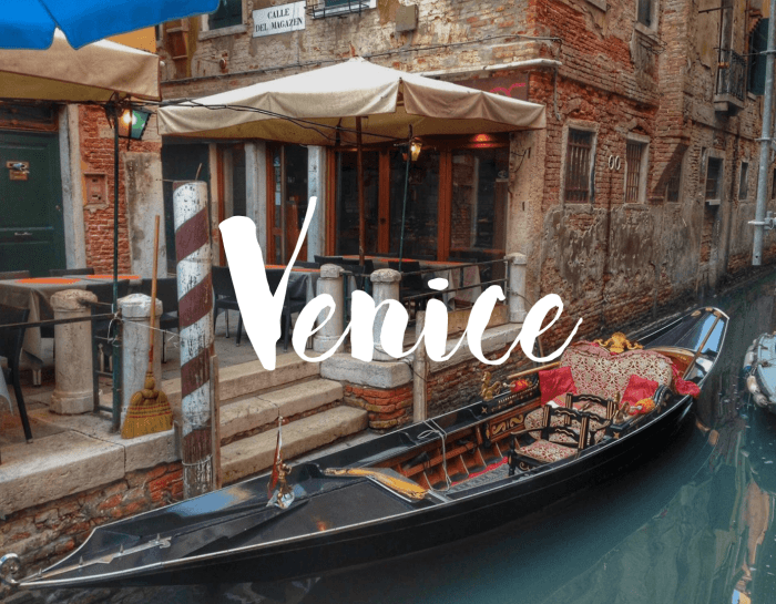 Venice, a City on Canals