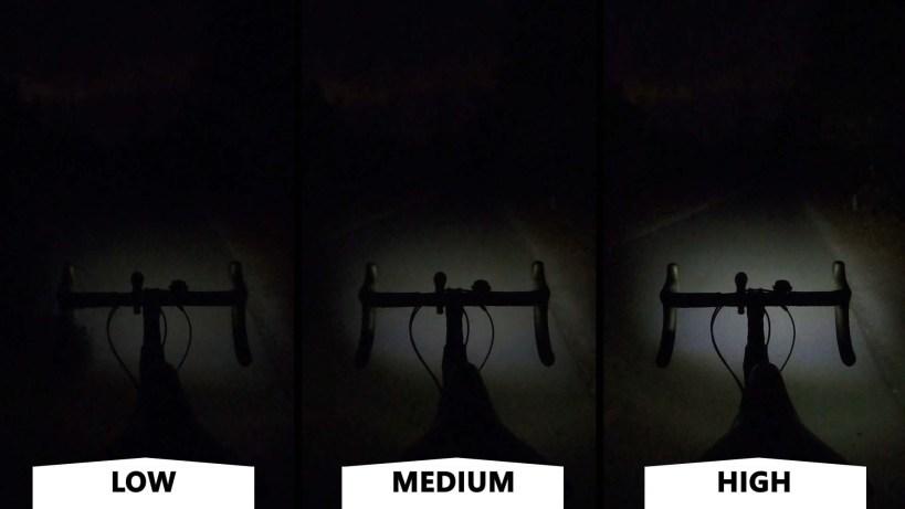 Headlux 450 light Output Comparison