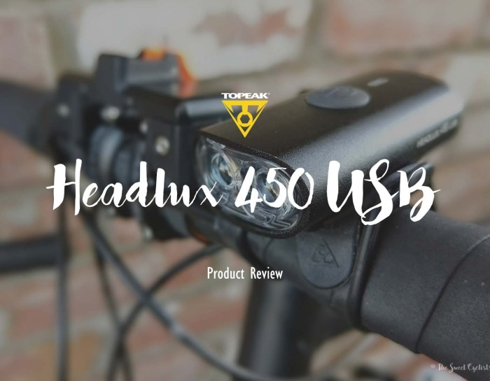 Surprisingly powerful yet versatile Topeak Headlux 450 USB