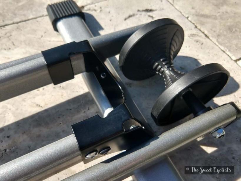 Maxxhaul 80717 Bicycle Stand Closeup of Wheel Holder