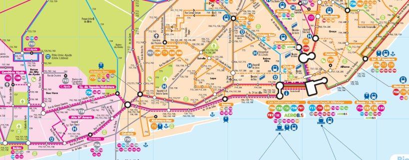 Lisbon Tram map
