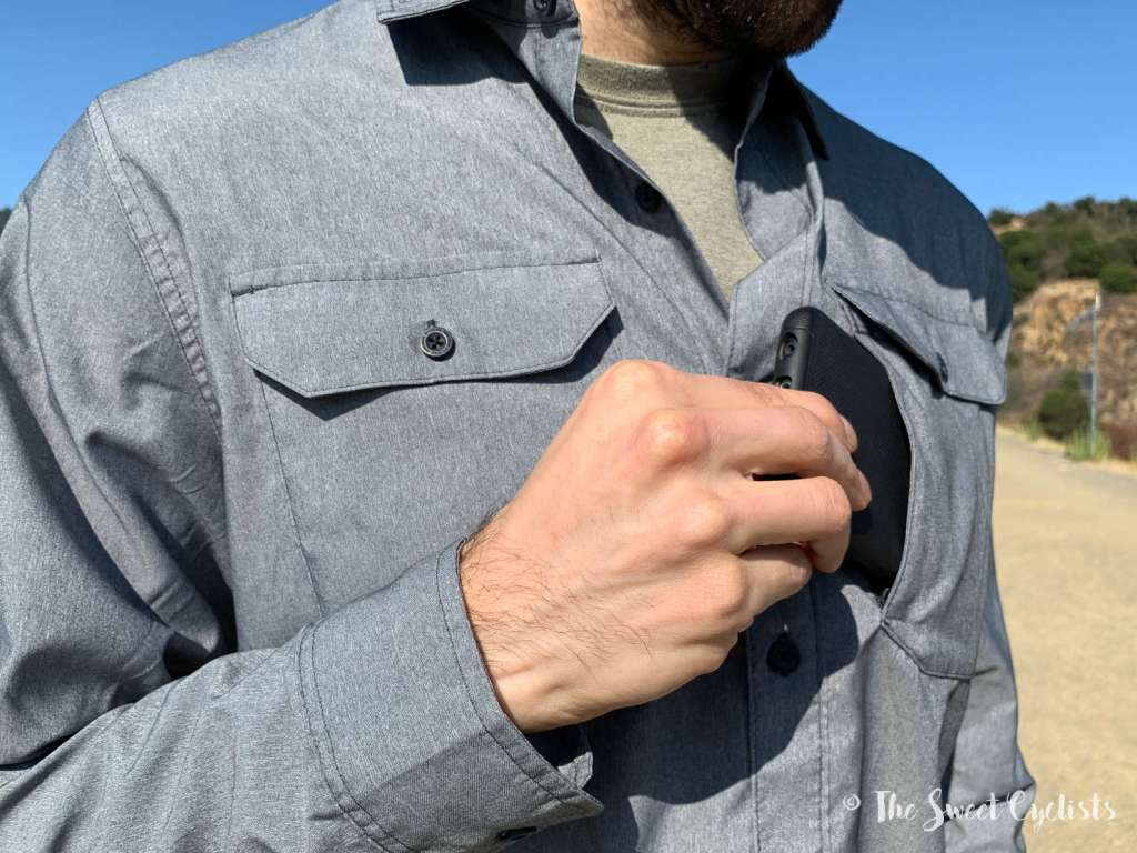 Mountain Hardwear Canyon Pro Long Sleeve Shirt - hidden pocket