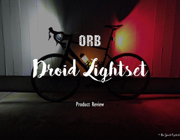 The Orb's anti-theft bike light set