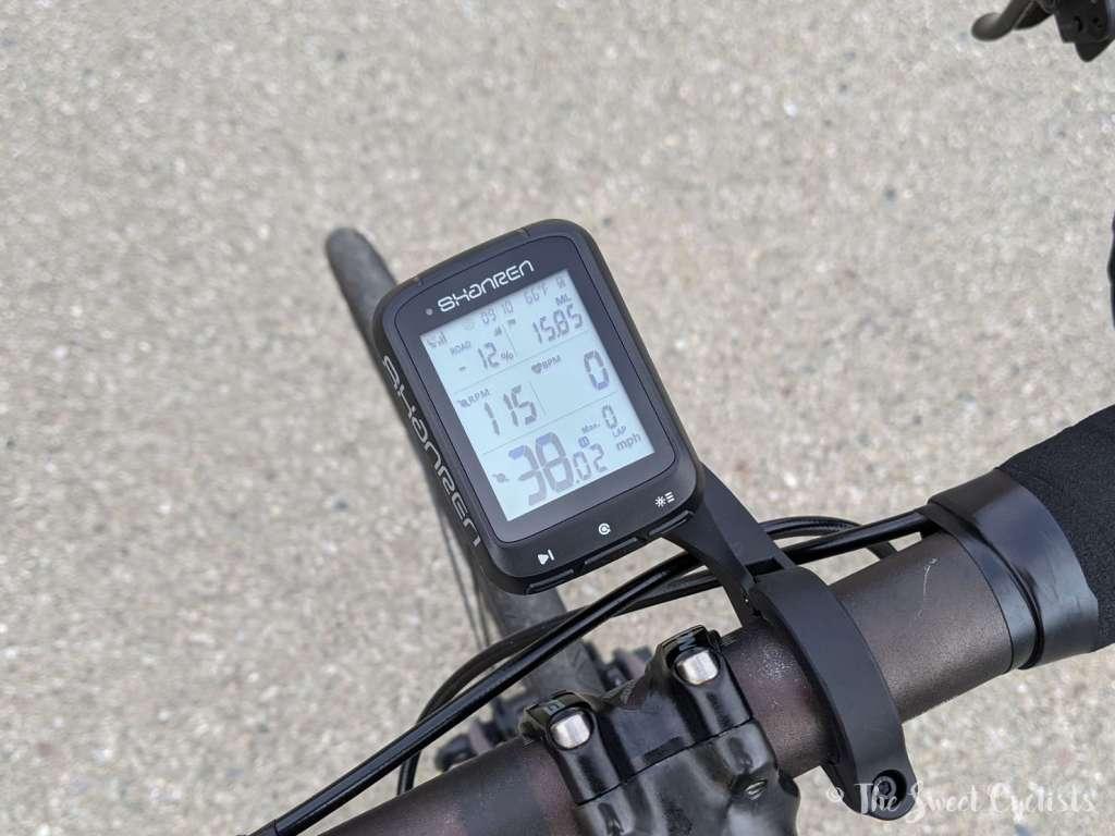 Shanren Miles GPS Computer - Layout