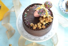 Chocolate Ganache Cake, made pretty by the sweet edge