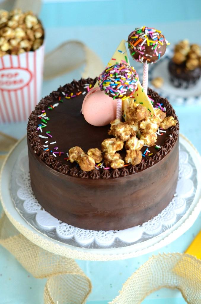 Chocolate Ganache Cake, rich and moist