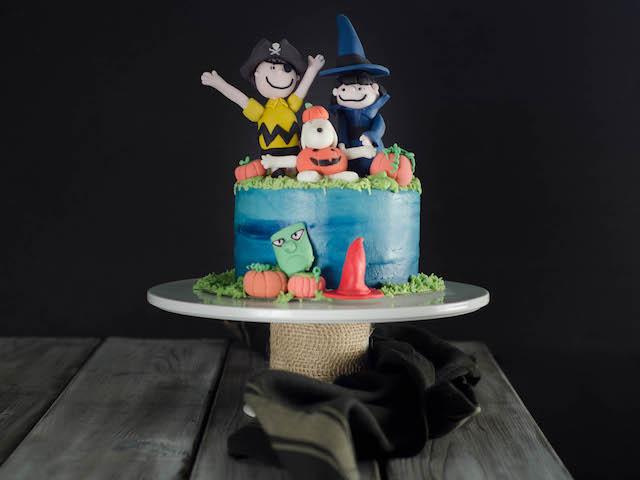 Halloween Cake Art Peanuts Gang