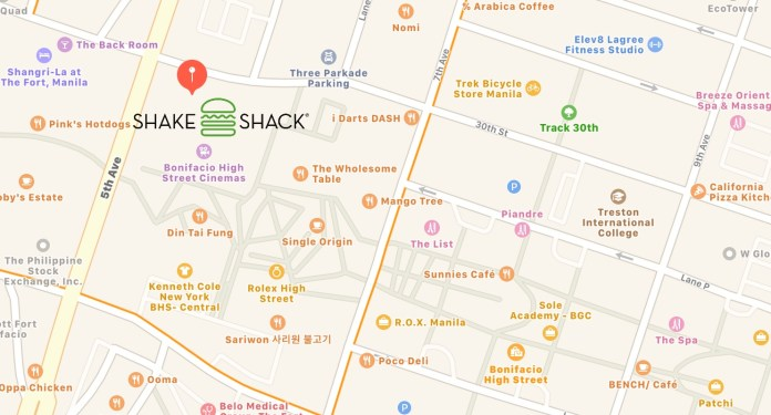 shake shack Philippines location