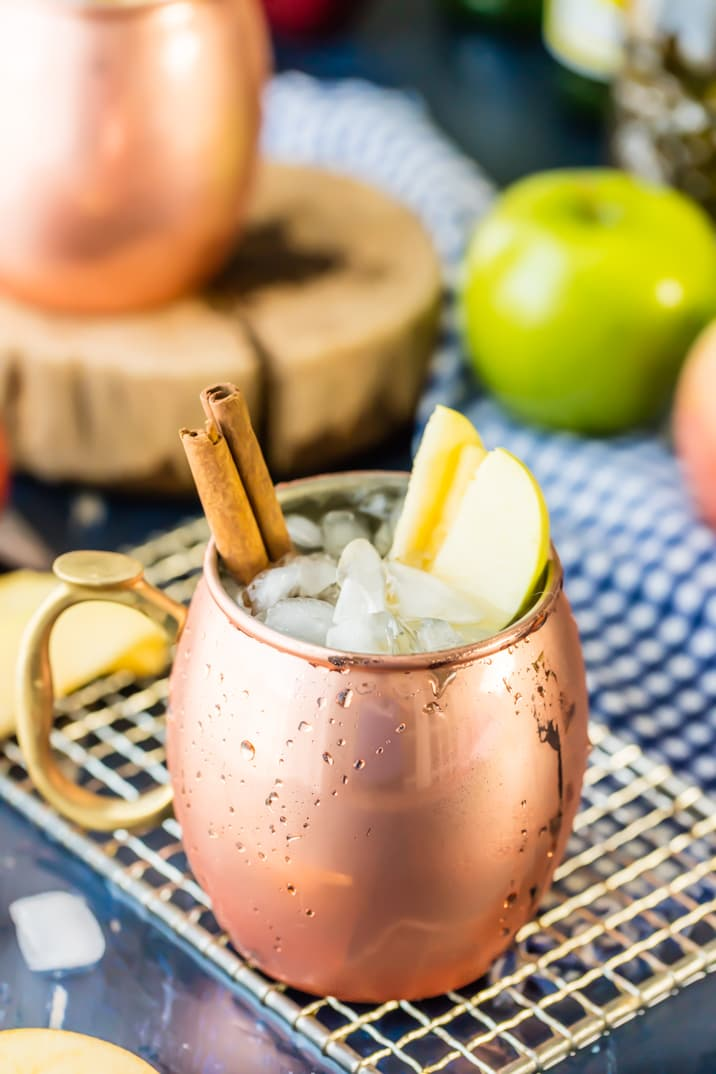 apple pie moscow mule mocktail