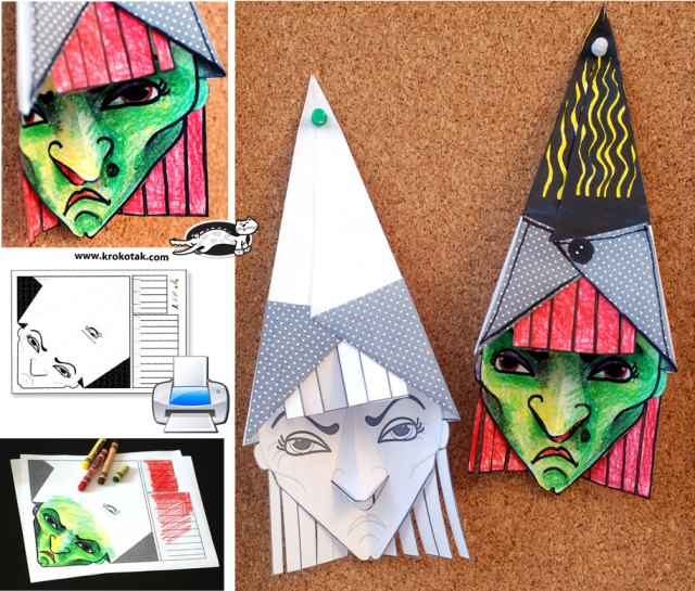 3D Witch with template