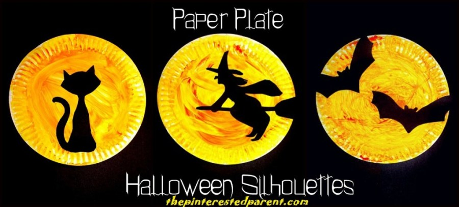 Paper-Plate-Halloween-Silhouette-Crafts