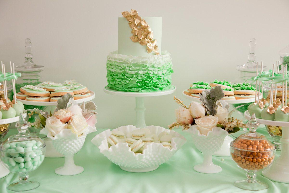 Green Dessert Buffet