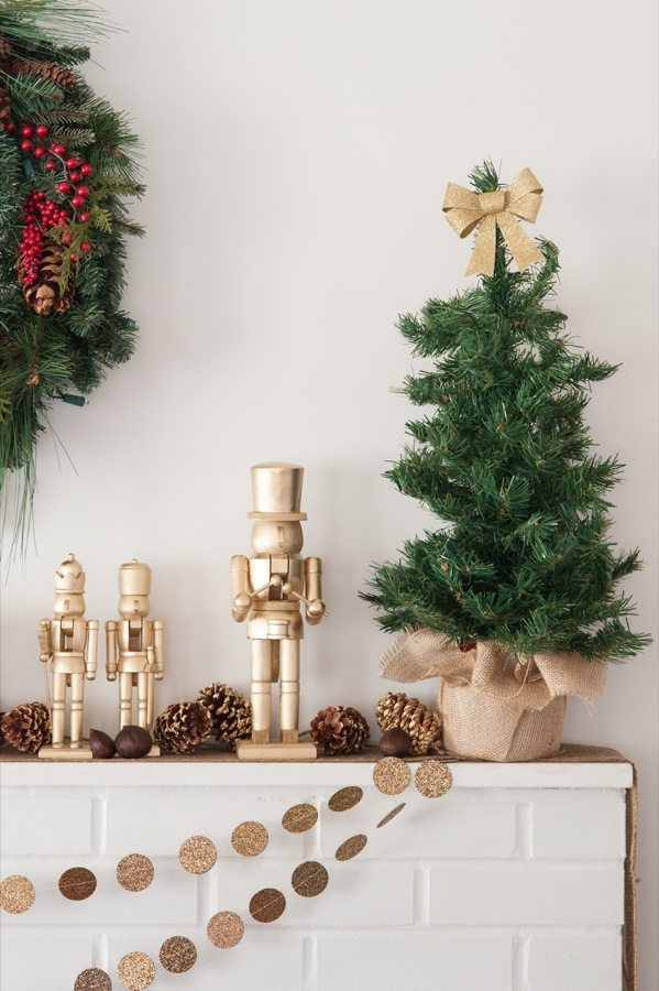 DIY Golden Nutcracker Holiday Mantel The Sweetest