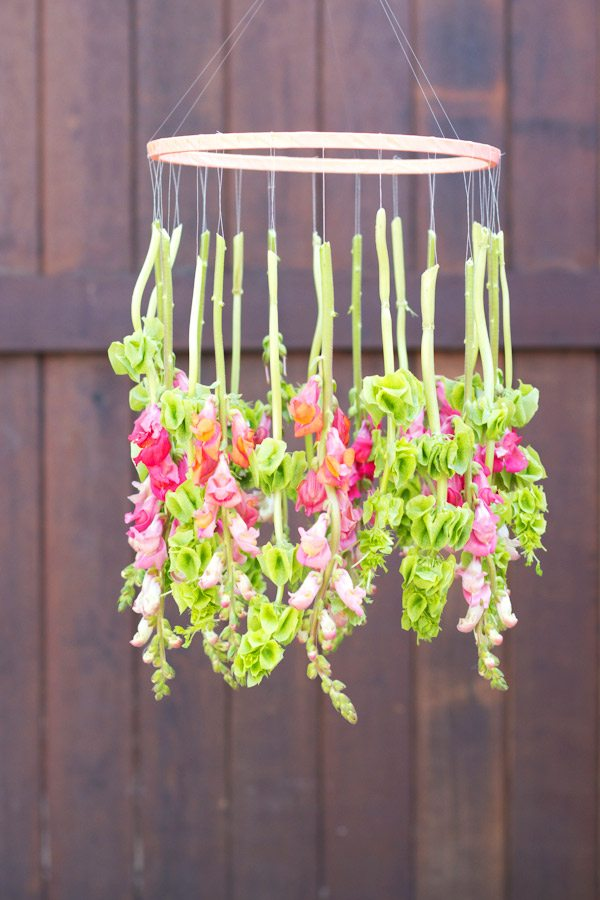 Diy Hanging Flower Chandelier