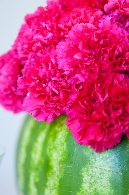 DIY Watermelon Flower Centerpiece The Sweetest Occasion