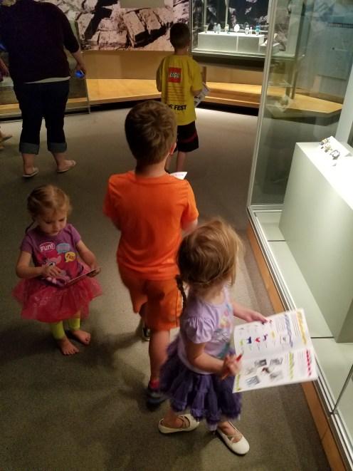 The kids on a scavenger hunt