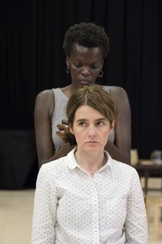 Shirley Henderson (Elizabeth Laine) and Sheila Atim (Marianne Laine) in Girl from the North Country at The Old Vic. Photo by Manuel Harlan