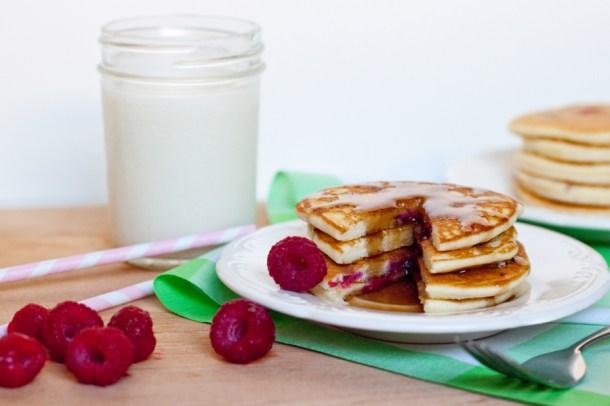 Hotcakes de Frambuesa-Raspberry Pancakes