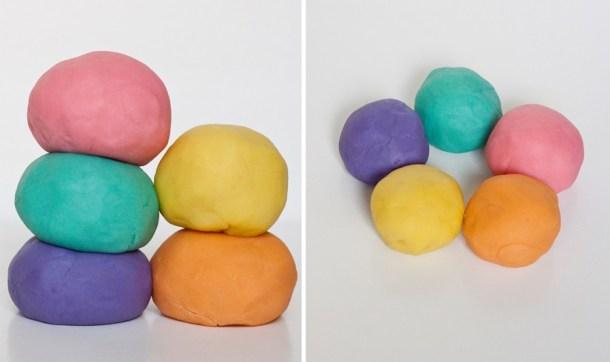 Receta para hacer Plastilina o Masa Moldeable tipo Playdoh. Es muy fácil de preparar y a tus hijos les va a encantar.