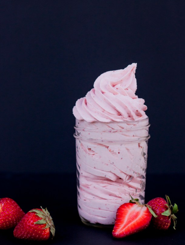 The Best Strawberry Frosting