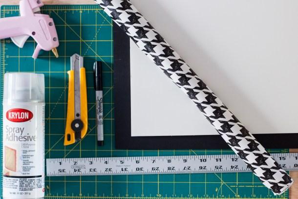 DIY organizador de cubiertos - materiales
