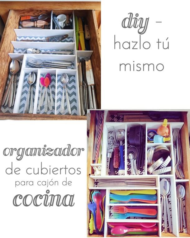 Diy organizador de cubiertos para cajon de cocina the for Ordenadores para cocina
