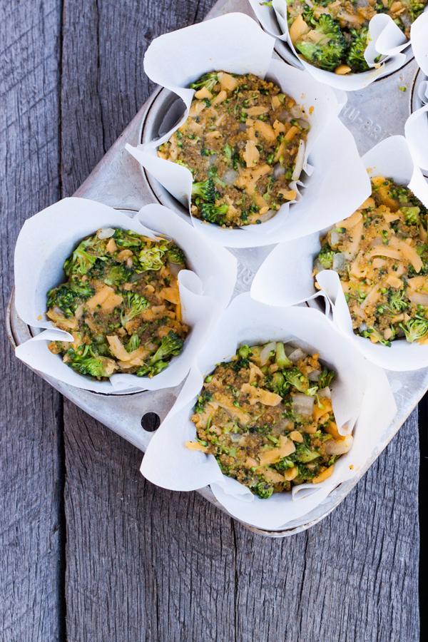 tortitas de brocoli con quesa cheddar