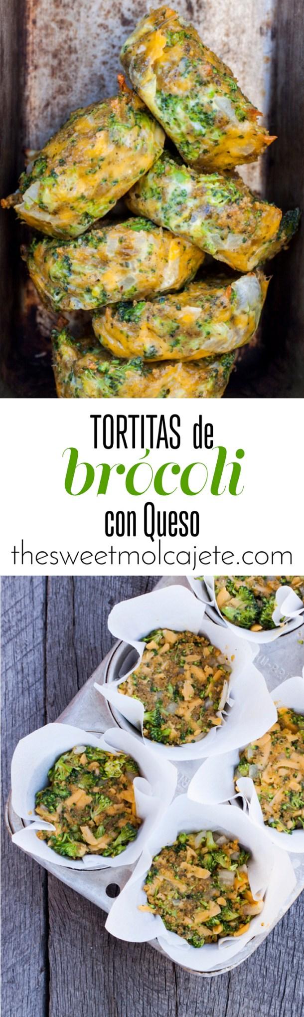 Éstas deliciosas y nutritivas tortitas de brócoli con queso cheddar son una excelente opción para el lunch o snack de los niños (o los adultos). Se pueden hacer al horno o guisadas en un poco de aceite, de cualquier forma son riquísimas.
