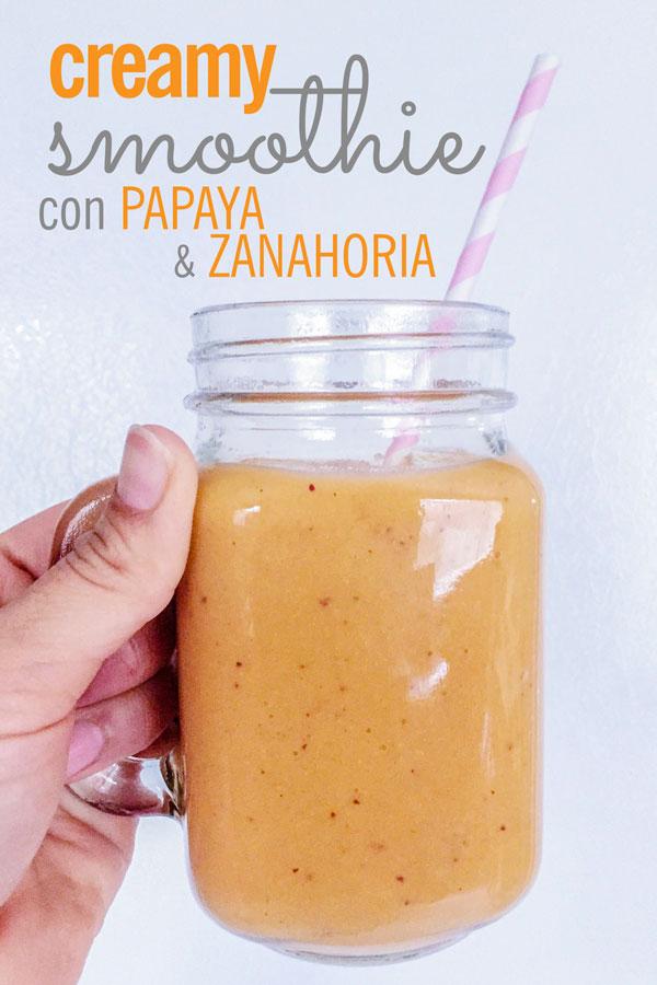 smoothie cremoso de papaya y zanahoria