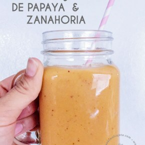 SMOOTHIE DE PAPAYA Y ZANAHORIA