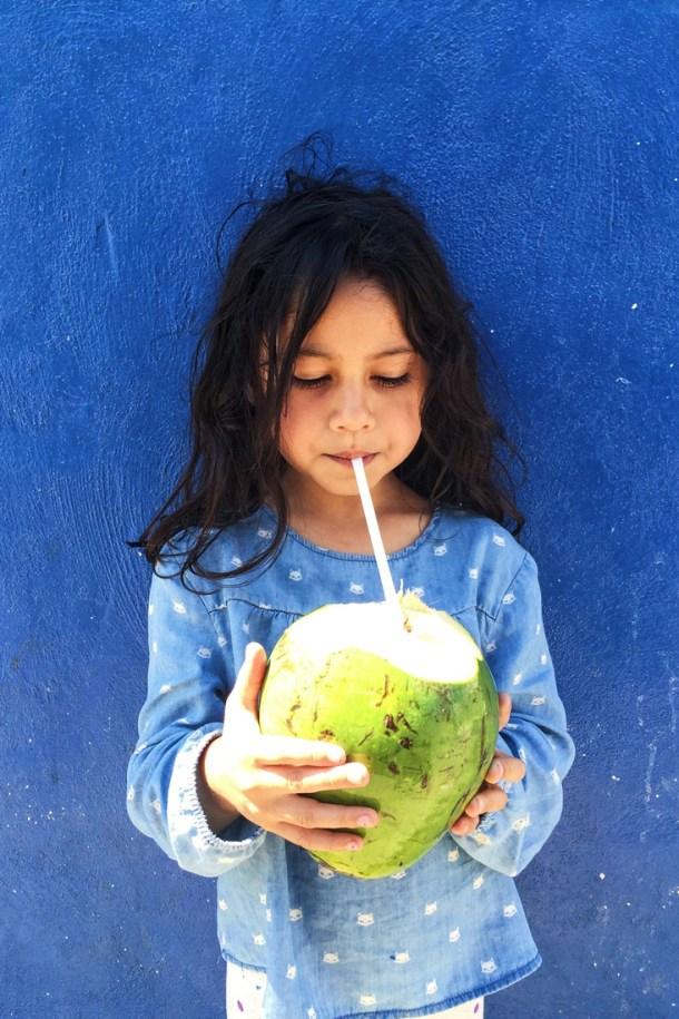 Agua de Coco en Puerto Progreso, Yucatán