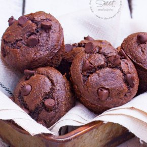 MUFFINS DE CHOCOLATE SIN GLUTEN {con video paso a paso}