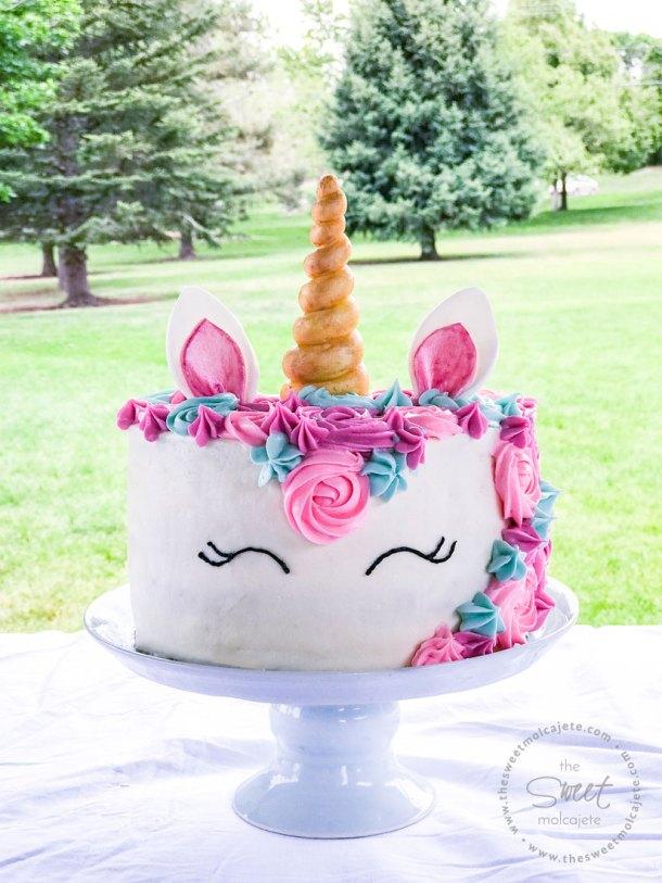 Pastel de Unicornio en una Fiesta Zero Waste o con Menos Basura