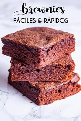 Suaves, humeditos, chocolatosos y súper deliciosos, ¡estos Brownies fáciles y rápidos pronto se convertirán en tu postre preferido!