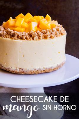 Este cremoso y delicioso Cheesecake de Mango es el postre perfecto para cualquier celebración. Tiene una textura suave parecida a la de un mousse y un intenso sabor natural a mango, ¡y lo logras usando sólo una licuadora!