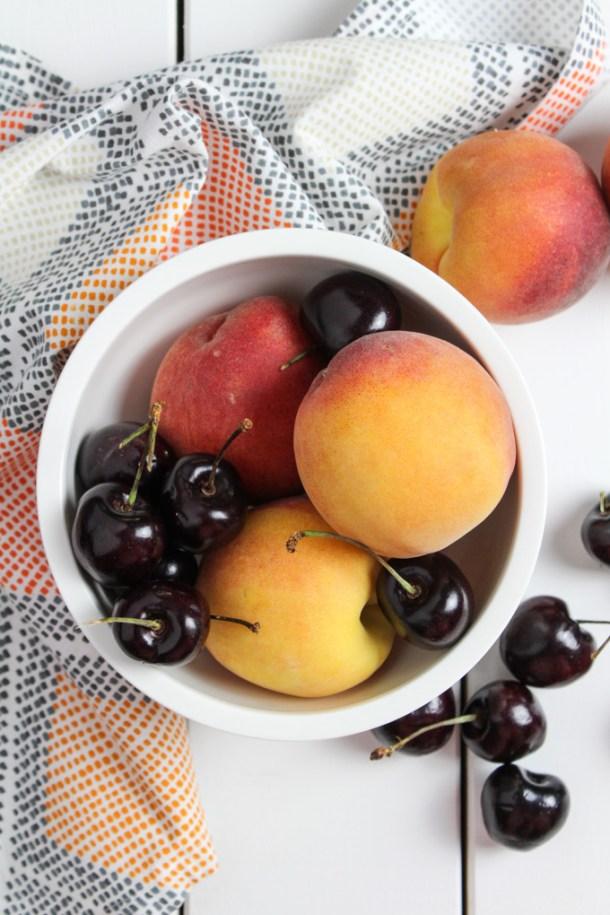 Peach and Cherries