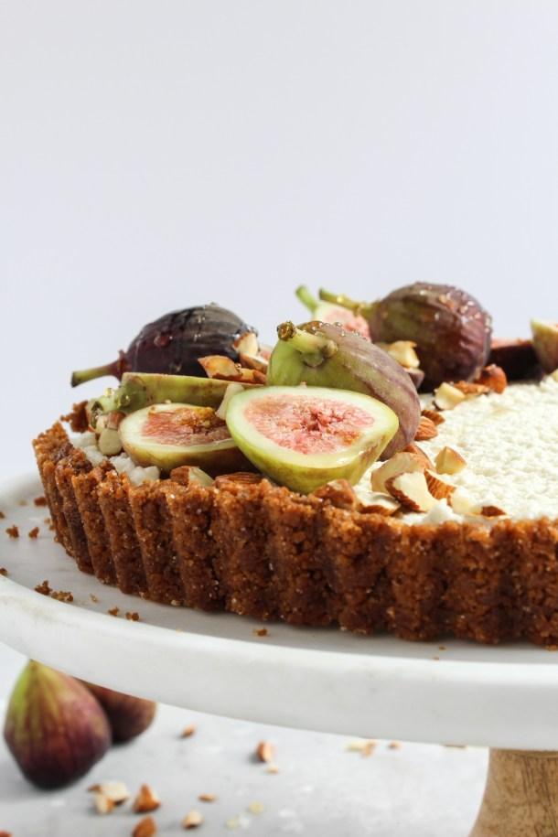 Honey Mascarpone Fig Tart-9