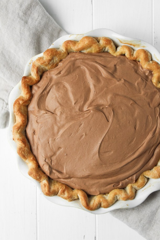 French silk pie without whipped cream