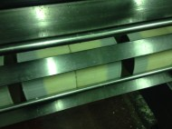 Pressing and shaping the cheeses