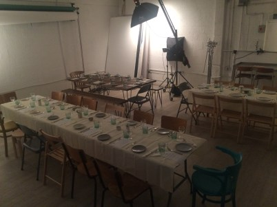 A photography studio transformed into a pop up restaurant